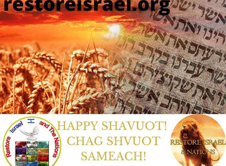 28 May, 2020: Prepare for Shavuot!