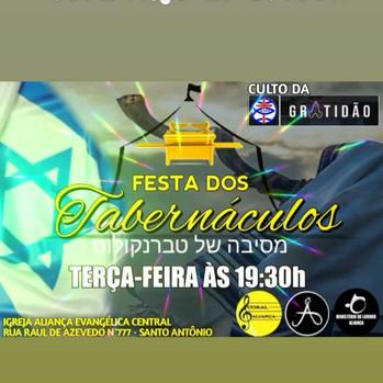 6 October, 2020: Festas Dos Tabernáculos - HOJE!!