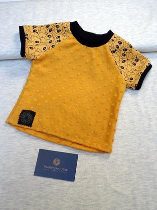 T-shirt bébé panda jaune