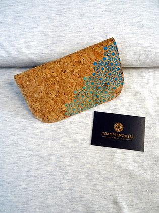 Blague à Tabac liège, motif japonais asanoha