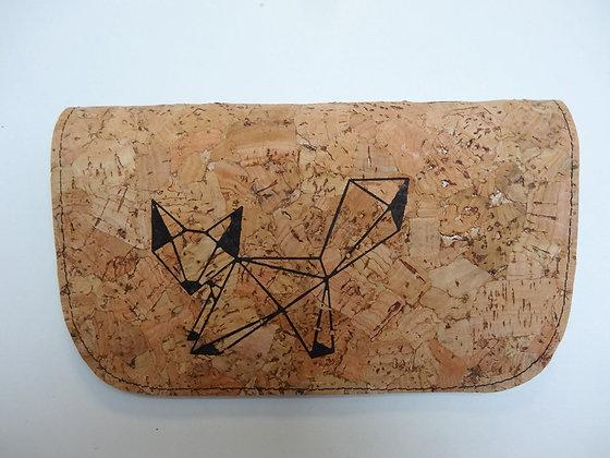 Blague à Tabac liège et renard origami