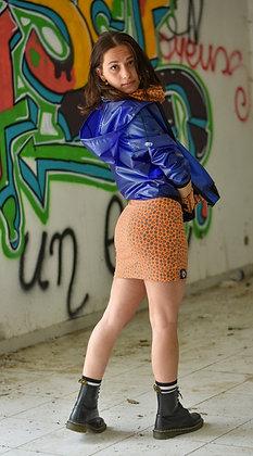 Mini-jupe panthère orange