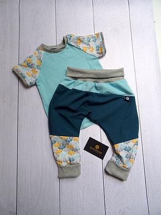 Ensemble bébé patchwork ginkgo 24 mois