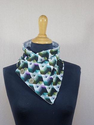 col écharpe géométrique multicolore