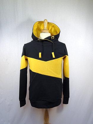 Sweat homme jaune et noir