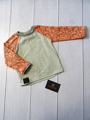 T-shirt bébé lama rose et gris