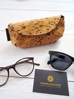 """Étui à lunettes en liège """"tacheté"""""""