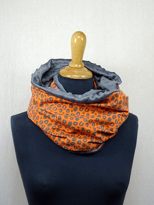 Snood panthère orange