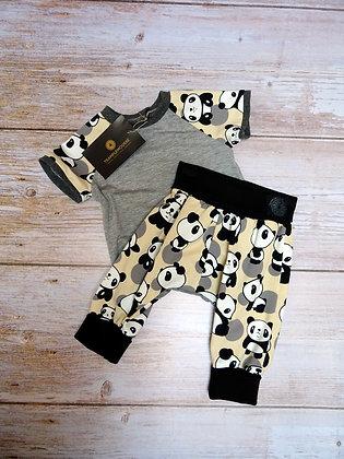 Ensemble bébé panda gris