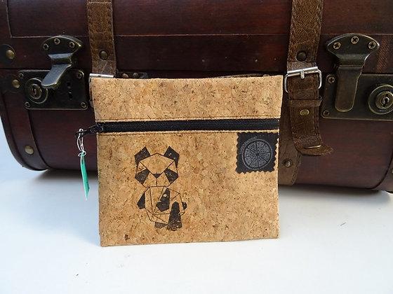 Pochette en liège motif panda