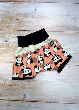 Short bébé panda rose