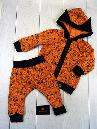 Ensemble sweat et sarouel bébé animaux orange