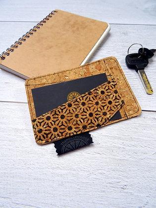 Porte-carte Asanoha noir