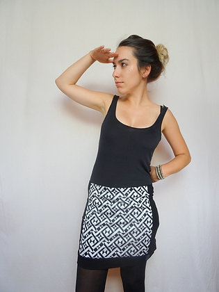 Mini-jupe triangles