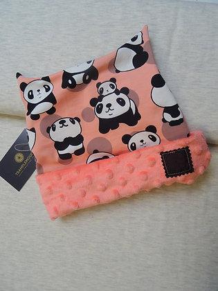 Bonnet enfant panda rose