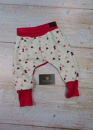 Sarouel bébé sweat triangles roses
