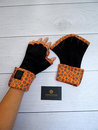 Mitaines Palmées panthère orange