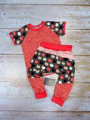 Ensemble bébé patchwork popommes