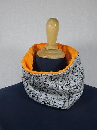 Snood enfant castor masqué orange