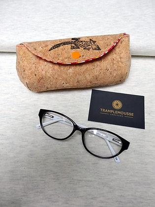 Étui à lunettes en liège motif salamandre