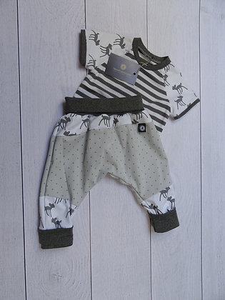 Ensemble bébé patchwork Bambi 9 mois