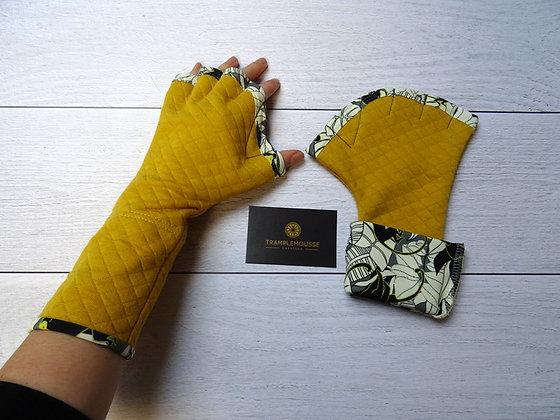 Mitaines palmées singe jaune