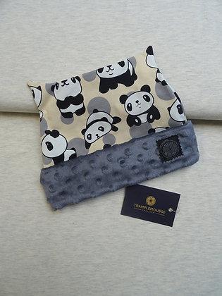 Bonnet enfant panda crème