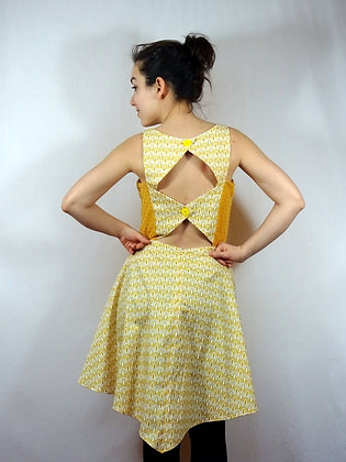 Robe vintage jaune
