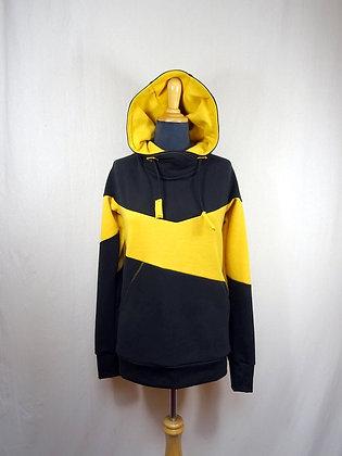 Sweat à capuche jaune et noir