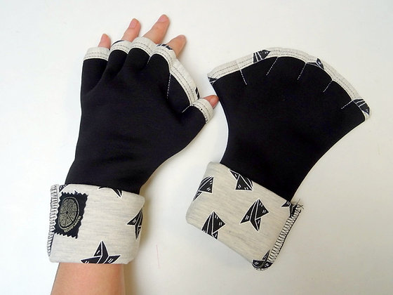 Mitaines Palmées noir/ origami