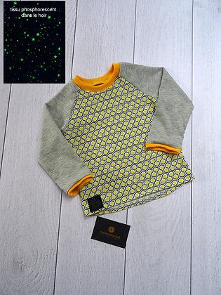 T-shirt bébé étoiles phosphorescentes