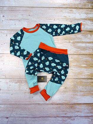 Ensemble bébé patchwork popotame