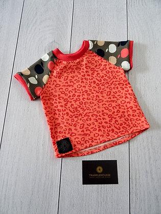 T-shirt bébé Popomme léopard