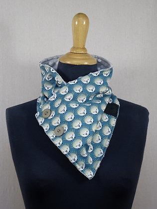 Col écharpe motif hérissons