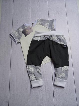 Ensemble bébé patchwork ours polaire 24 mois