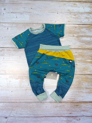 Ensemble bébé patchwork croco