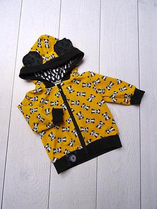 Sweat zippé bébé panda jaune