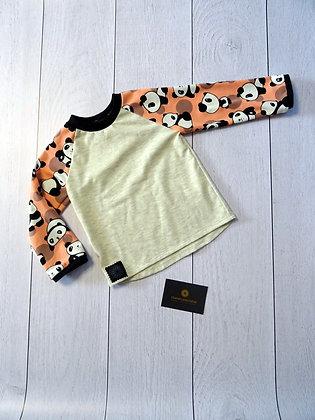 T-shirt bébé panda rose