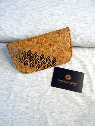 Blague à Tabac liège, motif japonais Seigaiha
