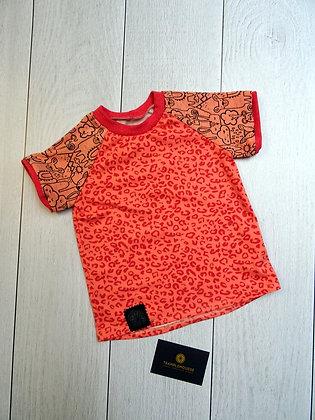 T-shirt bébé lama rose corail