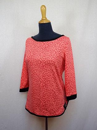 T-shirt léopard saumon