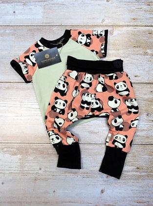 Ensemble bébé panda rose