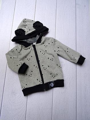 Sweat zippé bébé panda