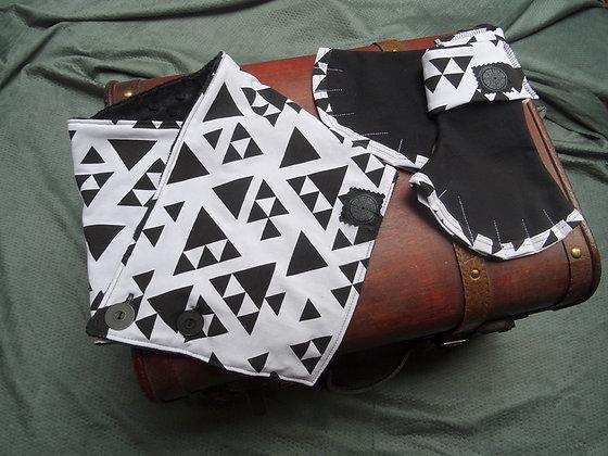 ensemble mitaines et col triangles