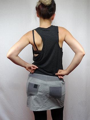 Mini-jupe façon jeans Eclair rayures