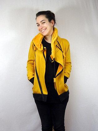 Veste Sweat jaune moutarde