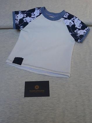 T-shirt bébé lapin bleu