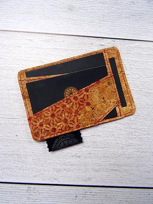 Porte-carte Asanoha rouge