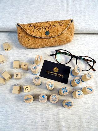 Étui à lunettes en liège personnalisable