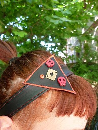 Bandeau rouge têtes de mort